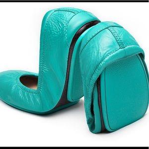 Tieks ballet flats, blue patent, size 9